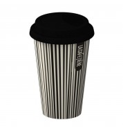 Mug isotherme porcelaine Rayures