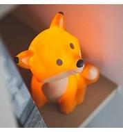 Veilleuse orange LED renard Cesar
