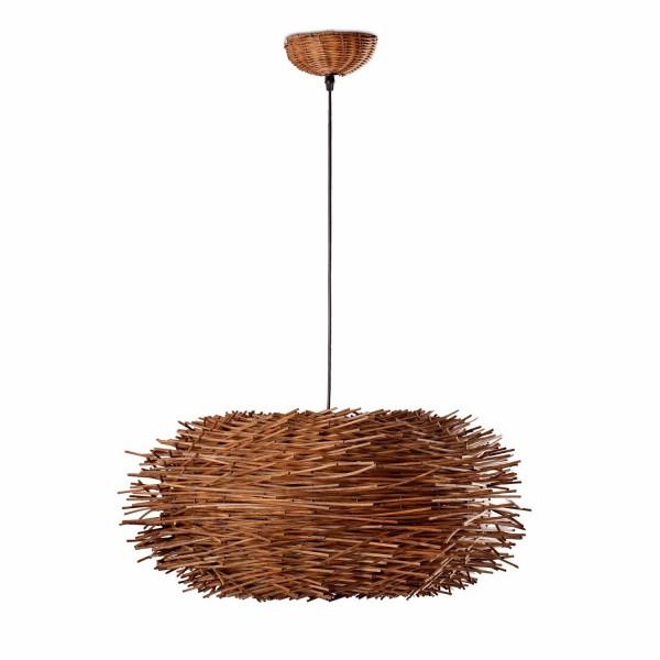 Suspension luminaire en rotin faro - Suspension en rotin design ...