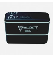 Bento lunch box Free and easy noir (990ml)
