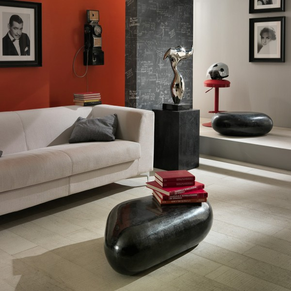table basse originale table basse galet noire. Black Bedroom Furniture Sets. Home Design Ideas
