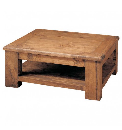 Table basse sous plateau pin massif myoc for Table en pin massif