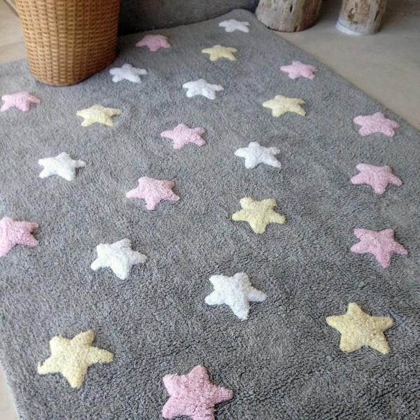 tapis enfant lavable 100 coton vert multicolore lorena. Black Bedroom Furniture Sets. Home Design Ideas