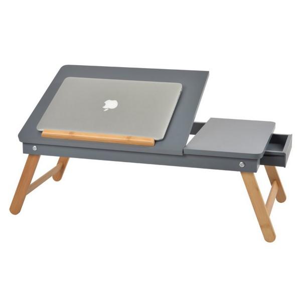 table ordinateur grise rangement et mat riel bureau la chaise longue. Black Bedroom Furniture Sets. Home Design Ideas