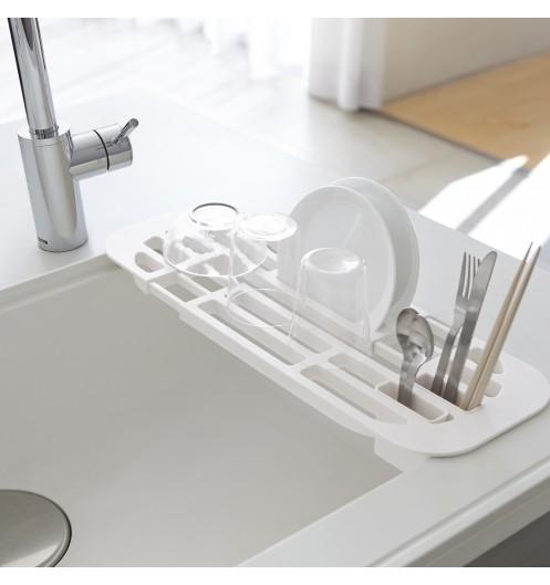 Petit egouttoir vaisselle blanc plat tower cuisine yamazaki - Petit egouttoir vaisselle ...