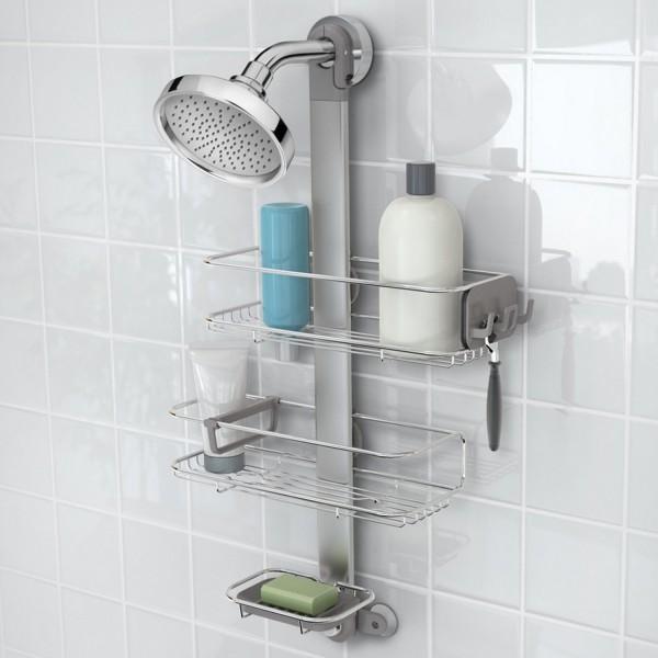 rangement de douche ajustable salle de bain simplehuman