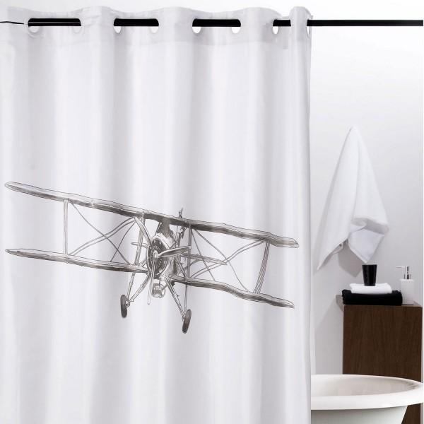 Rideau de douche vintage avion salle de bain atenas - Rideau de douche vintage ...