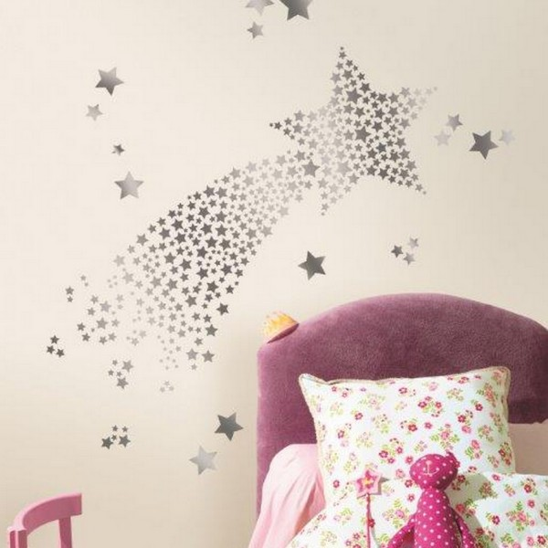 stickers chambre fille stars hologramme stickers chambre d 39 enfant. Black Bedroom Furniture Sets. Home Design Ideas
