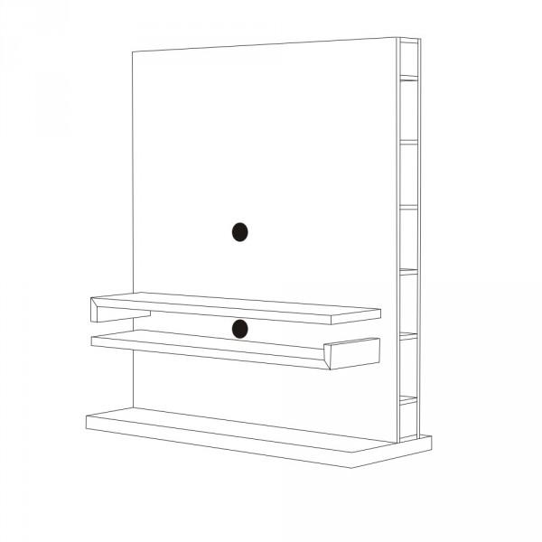 Meuble Tv Gris Laque : • Mobilier • Meuble Tv • Meuble Tv Design Gris Et Blanc Laqué
