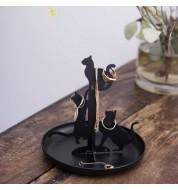 Porte bijoux chat noir
