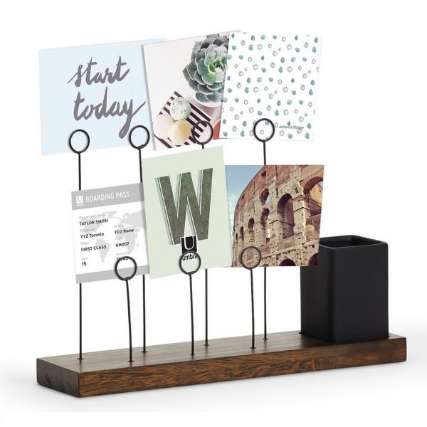 porte photo original pour le bureau accroche photo umbra. Black Bedroom Furniture Sets. Home Design Ideas