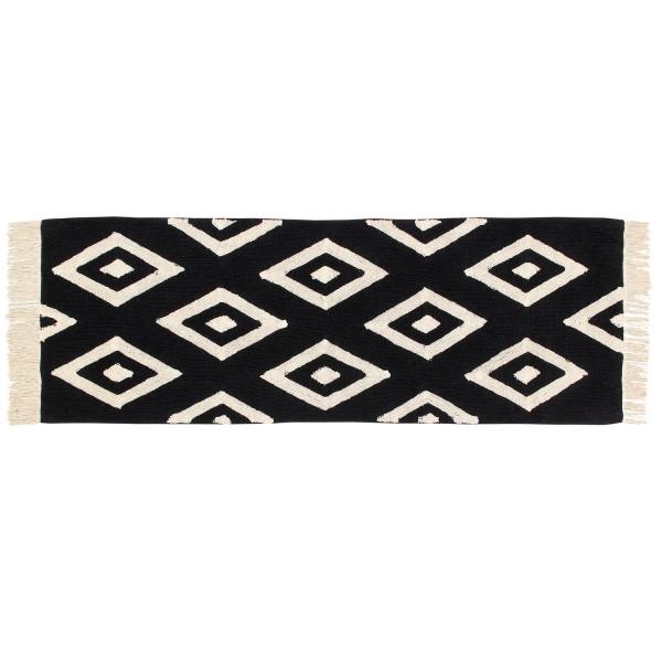 Tapis de salon noir et blanc tapis design lavable en machine - Tapis pour salon noir et blanc ...