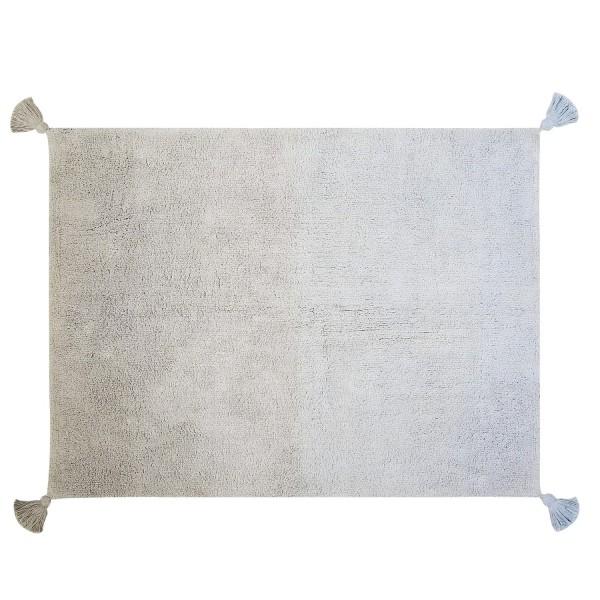 Tapis salon gris bleu - Tapis gris clair du00e9gradu00e9 Lorena Canals