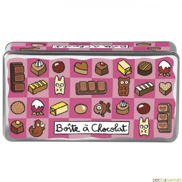 Boite metal derri re la porte chocolat boutique d coration for Decoration derriere la porte