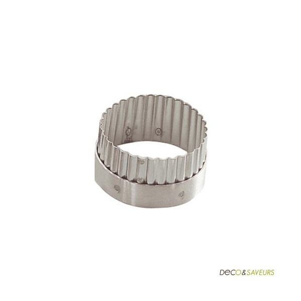 Emporte piece rond cannel en inox de buyer 6cm deco - Emporte piece rond ...
