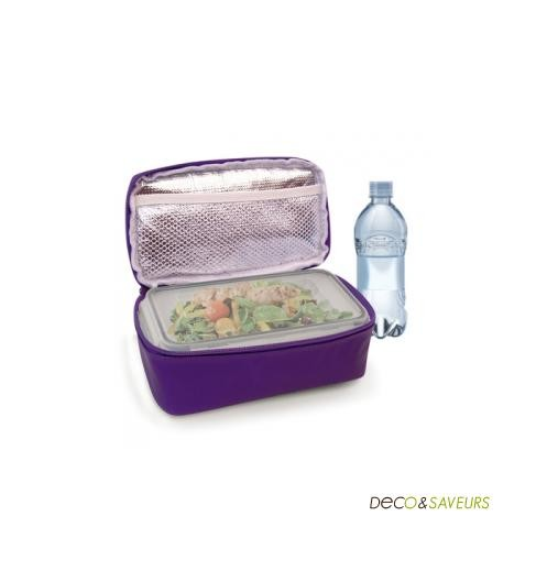 Boite repas dans tui isotherme d jeuner nomade avec iris - Sac lunch box isotherme ...