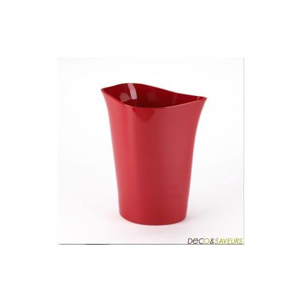 Accessoire de salle de bain rouge for Deco salle de bain rouge