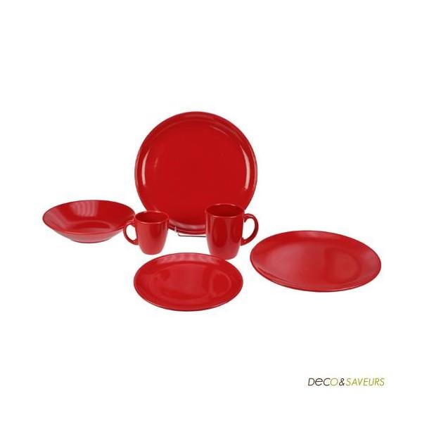 saladier en faience rouge rubis deco et. Black Bedroom Furniture Sets. Home Design Ideas