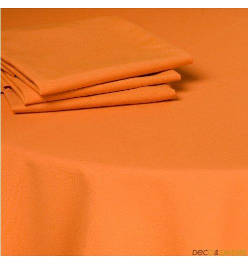 Serviette de table tissu coton (50x50cm) Orange  Decoet