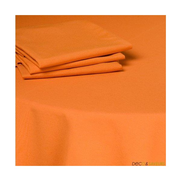 serviette de table tissu coton 50x50cm orange deco et. Black Bedroom Furniture Sets. Home Design Ideas