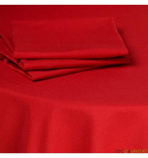 serviette de table tissu coton 50x50cm rouge deco et. Black Bedroom Furniture Sets. Home Design Ideas