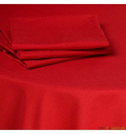 Serviette de table tissu coton 50x50cm rouge deco et - Serviettes de table en tissu ...