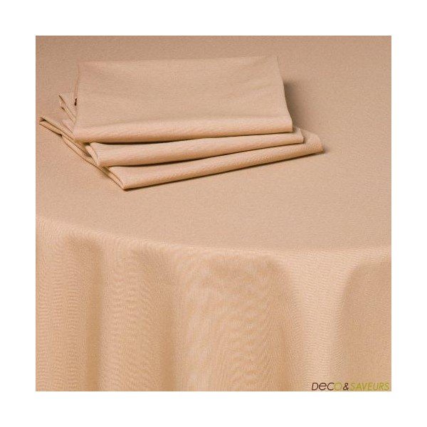 Serviette de table tissu coton (50x50cm) sable  Decoet