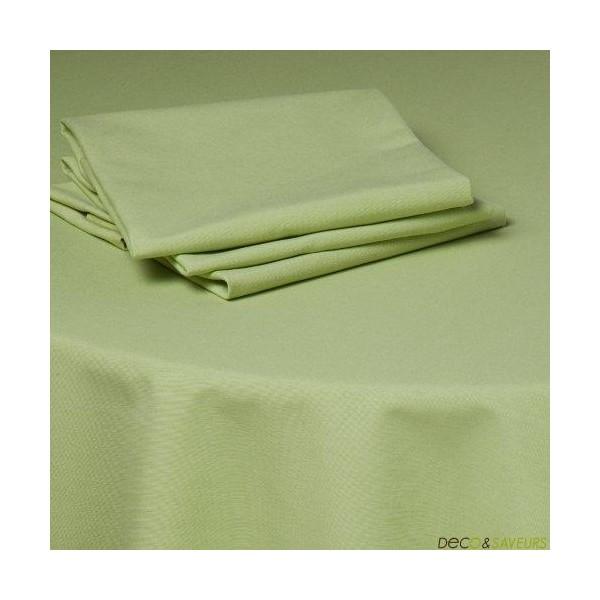 Serviette de table tissu coton 50x50cm vert deco et - Serviettes de table en tissu ...