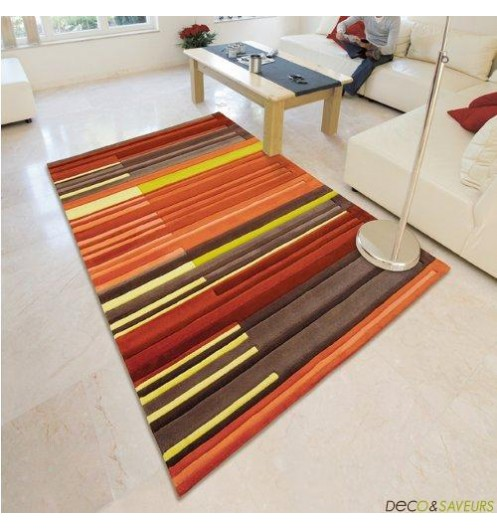Tapis chambre tapis pour chambre de fille rose flower for Tapis orange salon