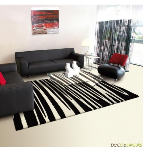 tapis salon design noir et blanc pr l vement d 39 chantillons et une bonne id e de. Black Bedroom Furniture Sets. Home Design Ideas