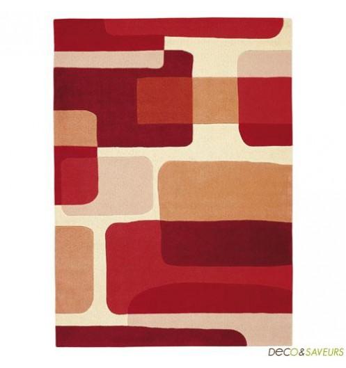 tapis salon beige et rouge. Black Bedroom Furniture Sets. Home Design Ideas