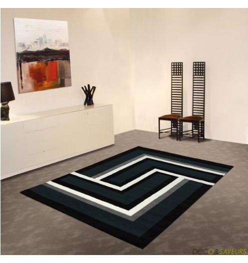 Tapis blanc design salon avec des id es for Tapis deco salon