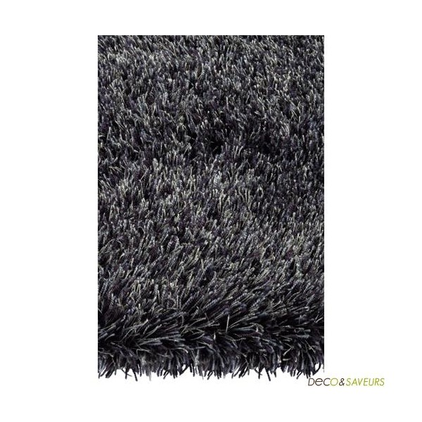 tapis shaggy arte espina swing noir deco et. Black Bedroom Furniture Sets. Home Design Ideas
