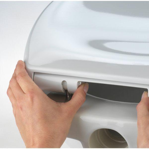 Abattant wc blanc otanna lunette de toilette blanche - Lunette de toilette castorama ...