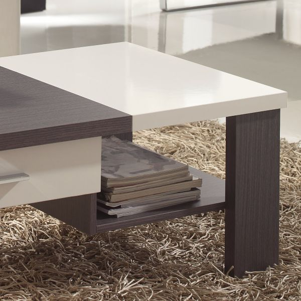 Table basse salon bois blanc for Table basse scandinave taupe