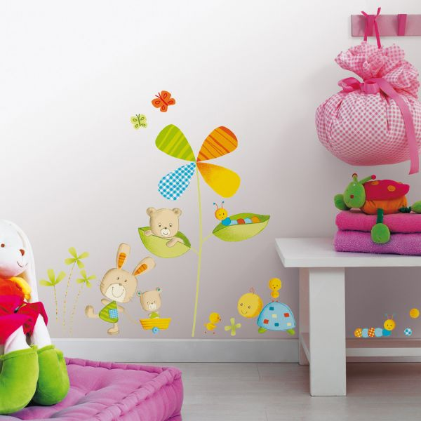 sticker enfant peluches stickers chambre b b. Black Bedroom Furniture Sets. Home Design Ideas