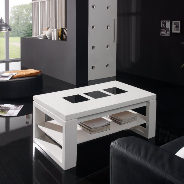 table basse blanc laqu fly best blanc fly table basse. Black Bedroom Furniture Sets. Home Design Ideas