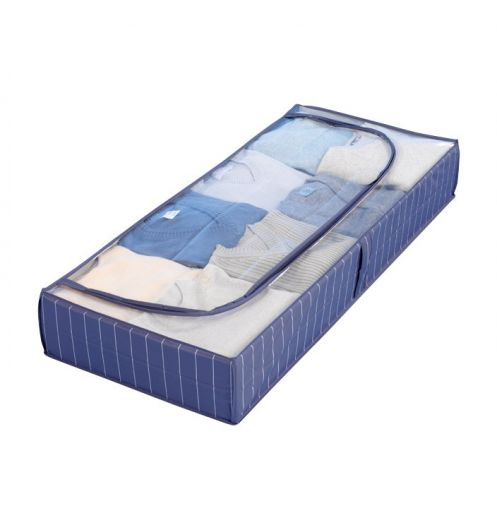 Housse de rangement bleue boite de rangement vetement - Boite de rangement sous lit ...