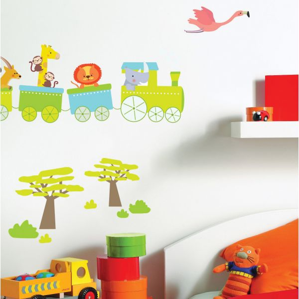 Stickers enfant train stickers chambre enfant for Stickers deco chambre garcon