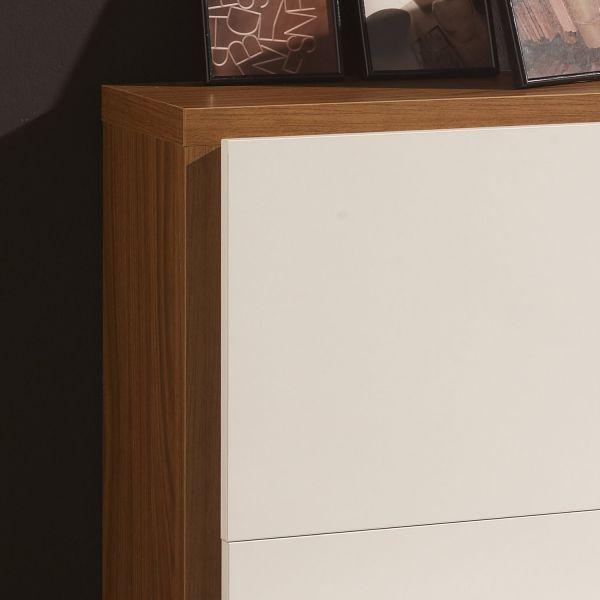 meuble chaussures 16 paires blanc et cadre bois deco et saveurs. Black Bedroom Furniture Sets. Home Design Ideas