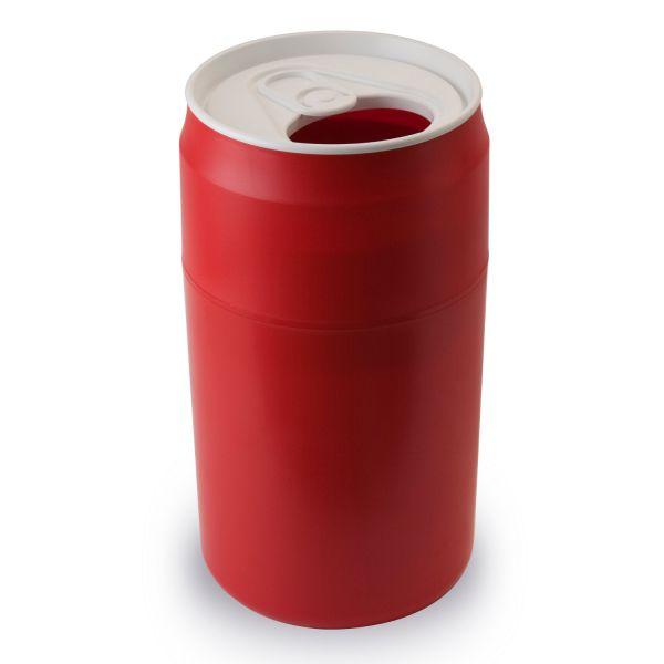 poubelle cannette qualy rouge poubelle cuisine. Black Bedroom Furniture Sets. Home Design Ideas