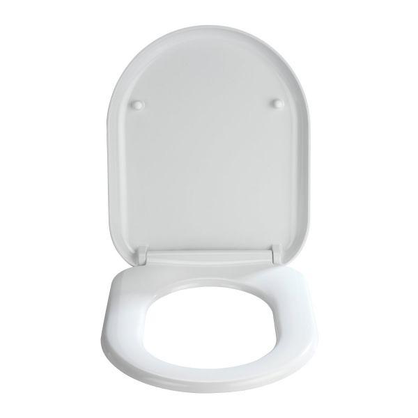 Abattant wc blanc madeira lunette de toilette design - Lunette de toilette clipsable ...