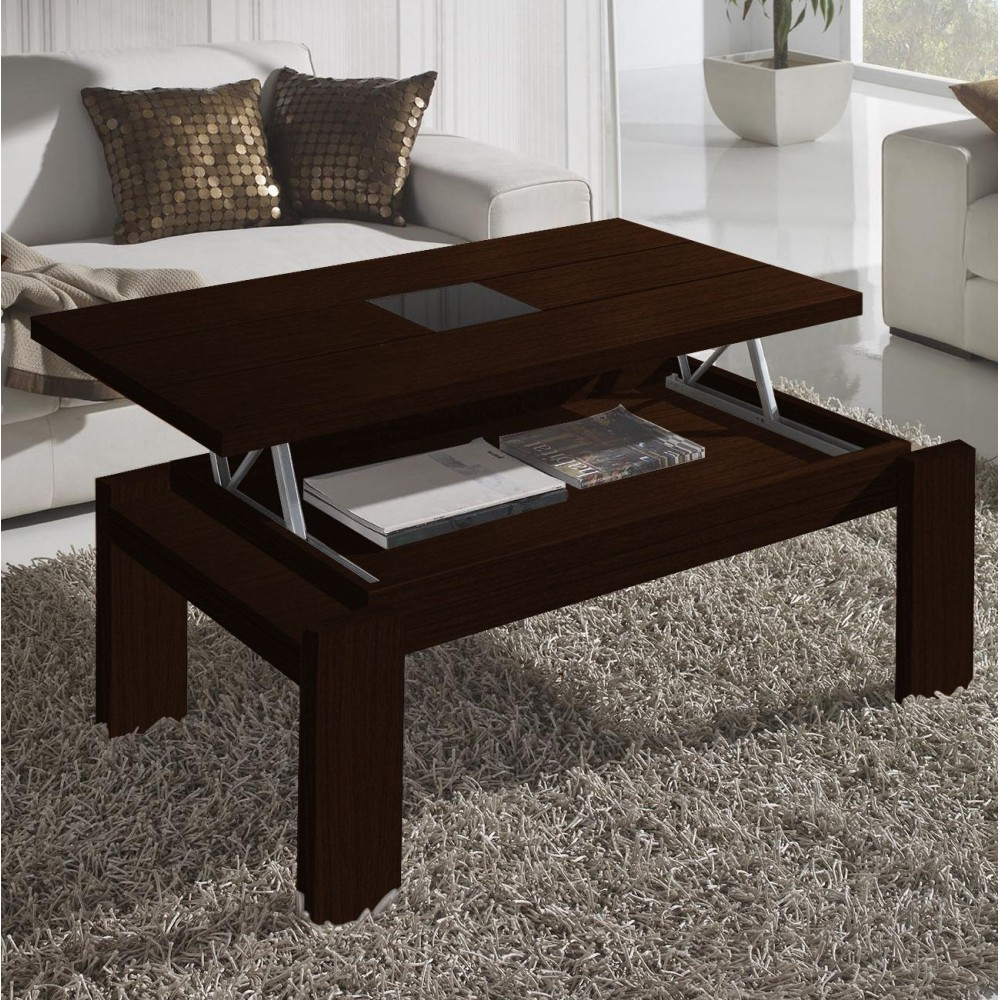 Table basse marron - Table basse de salon en verre modulable ...