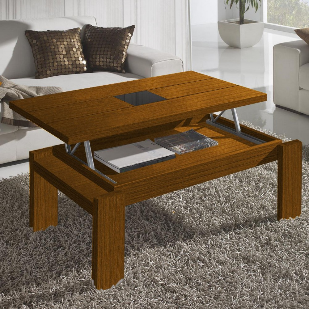 Table basse relevable bois - Table basse modulable bois ...