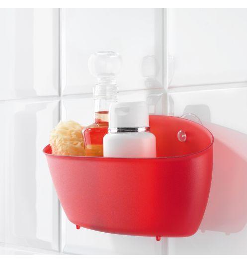 panier rangement douche rouge koziol rangement salle de bain. Black Bedroom Furniture Sets. Home Design Ideas
