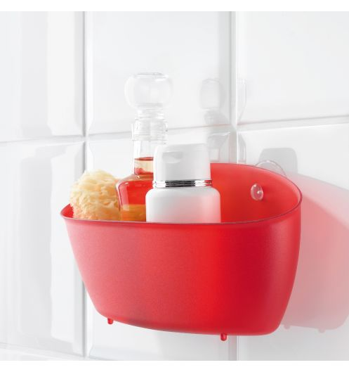 Panier rangement douche rouge koziol rangement salle de bain - Panier rangement salle de bain ...
