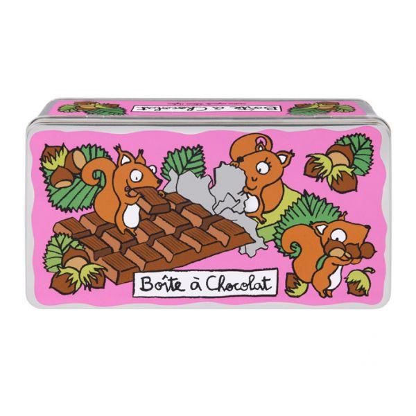 Boite chocolat ecureuil derri re la porte boite metal - Boite metal derriere la porte ...
