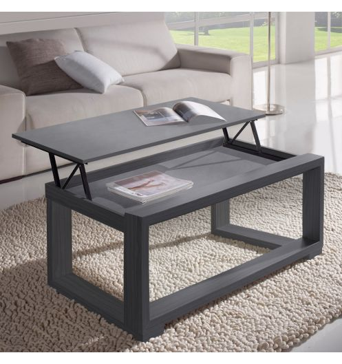 Preview - Table basse carree bois gris ...