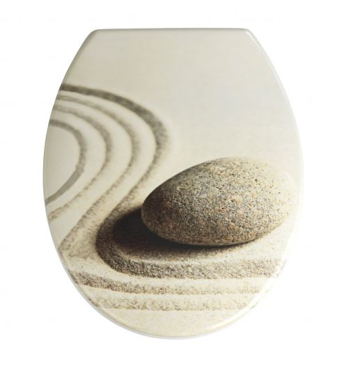 abattant wc d co galet et sable lunette wc zen. Black Bedroom Furniture Sets. Home Design Ideas