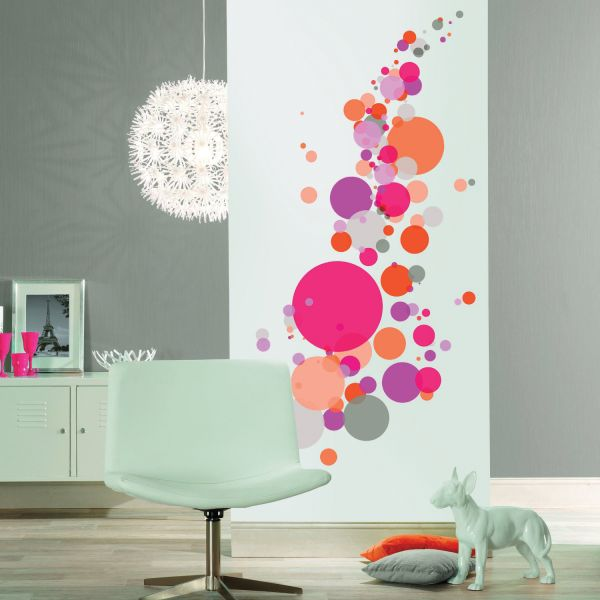 stickers muraux salon stickers deco rose